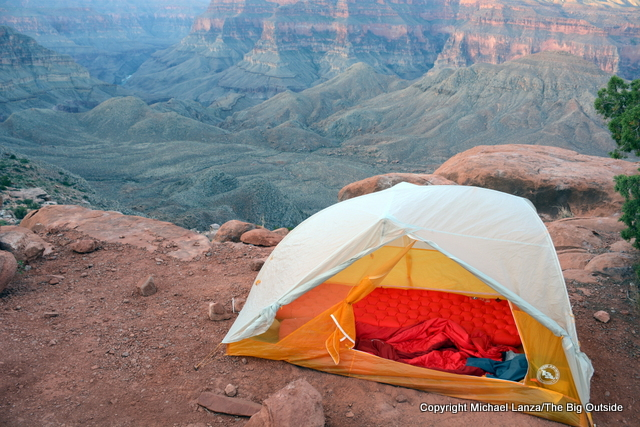 The Big Agnes Tiger Wall UL 2 in the Grand Canyon.