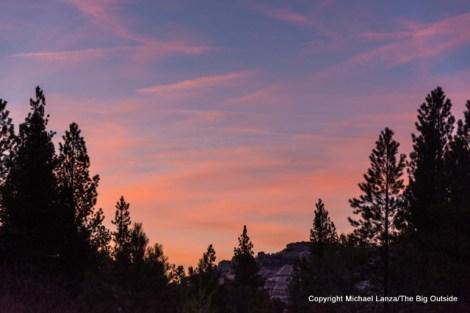 Sunset sky in Dark Canyon, Utah.