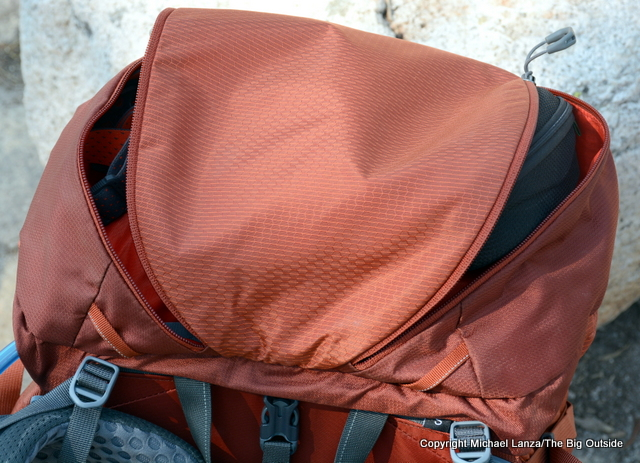 Gregory Baltoro 65 lid pockets.