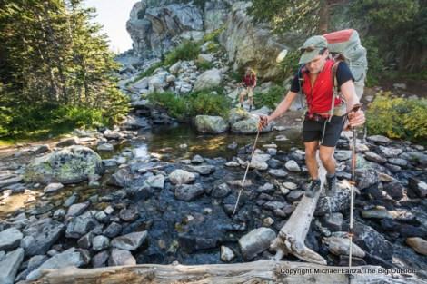 Backpacking to Seneca Lake, Wind River Range.