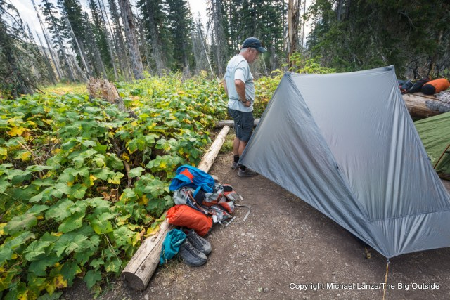 Gossamer Gear The One ultralight backpacking tent in Glacier National Park.