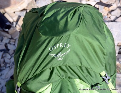 Osprey Exos 58 top flap.