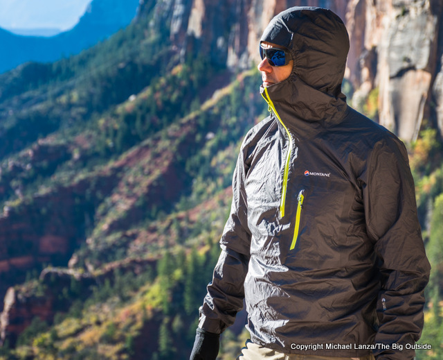 The Montane Minimus Stretch Ultra Pull-on in the Grand Canyon.
