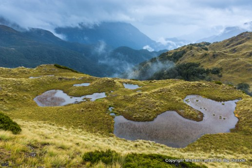 Along the Dusky Track in the Pleasant Range, Fiordland National Park, New Zealand.