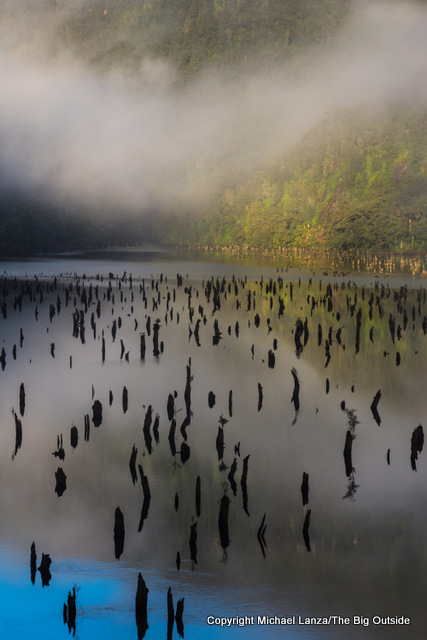 Early morning at Loch Maree on the Dusky Track in New Zealand's Fiordland National Park.