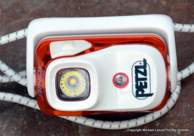 Petzl Bindi rechargeable ultralight headlamp.