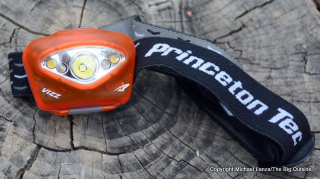 Princeton Tec Vizz headlamp.