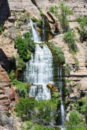 The Thunder River spring and waterfall in the Grand Canyon.