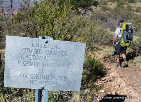 Sign past the Monument Point-BIll Hall Trailhead, Grand Canyon.