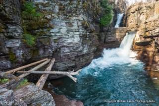 St. Mary Falls, Glacier National Park.