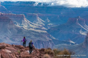 Hikers on the South Kaibab Trail in the Grand Canyon.
