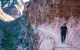 Gran7-149 Penny Beach hiking the North Kaibab Trail, Grand Canyon.