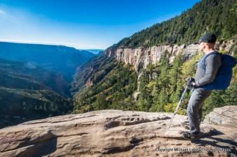 Gran7-151 David Ports at the Coconino Overlook, North Kaibab Trail, Grand Canyon.