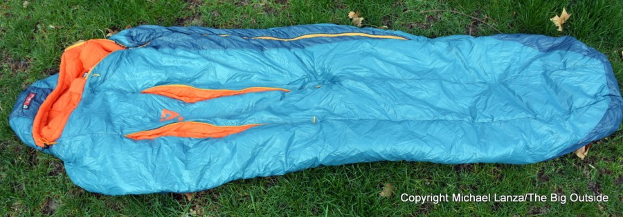 The Nemo Kyan 20 synthetic sleeping bag.
