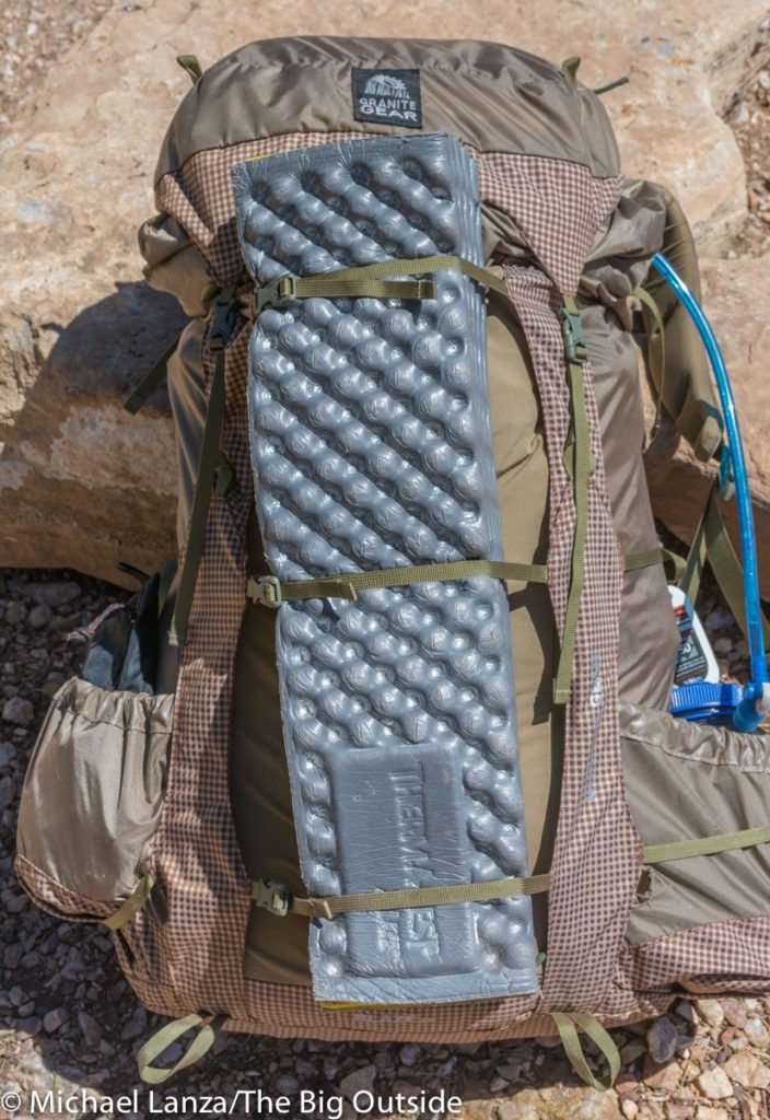 Granite Gear Blaze 60 front with pad.