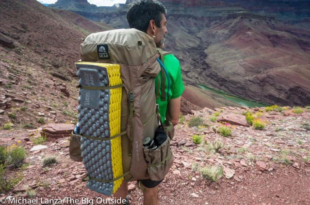 The Granite Gear Blaze 60 in the Grand Canyon.