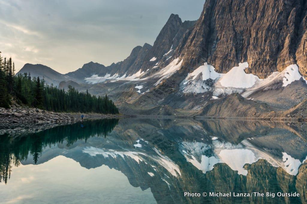 Floe Lake, along the Rockwall Trail in Canada's Kootenay National Park.
