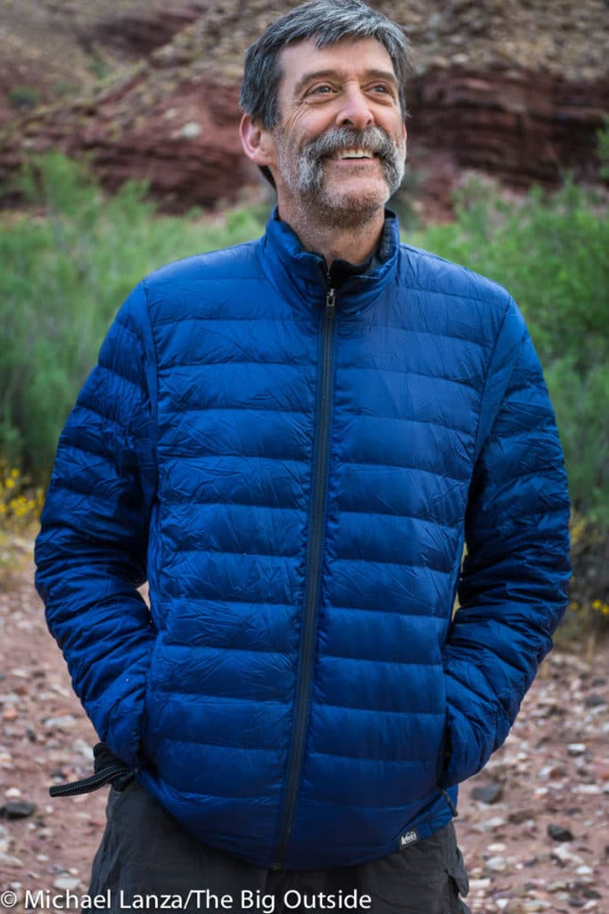 The REI 650 Down Jacket front.