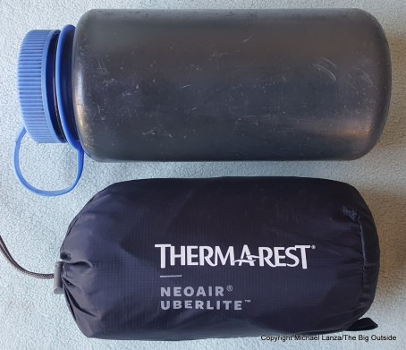 Therm-a-Rest NeoAir UberLite air mattress stuffed.