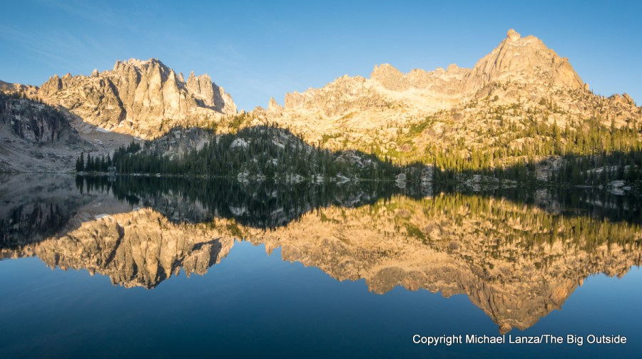 Dawn at Baron Lake in Idaho's Sawtooth Wilderness.