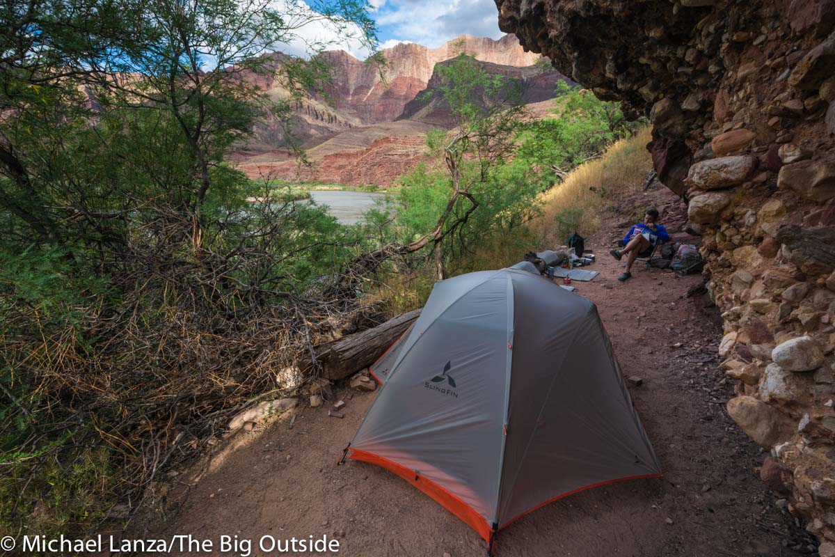 The Slingfin Portal 2 ultralight backpacking tent in the Grand Canyon.