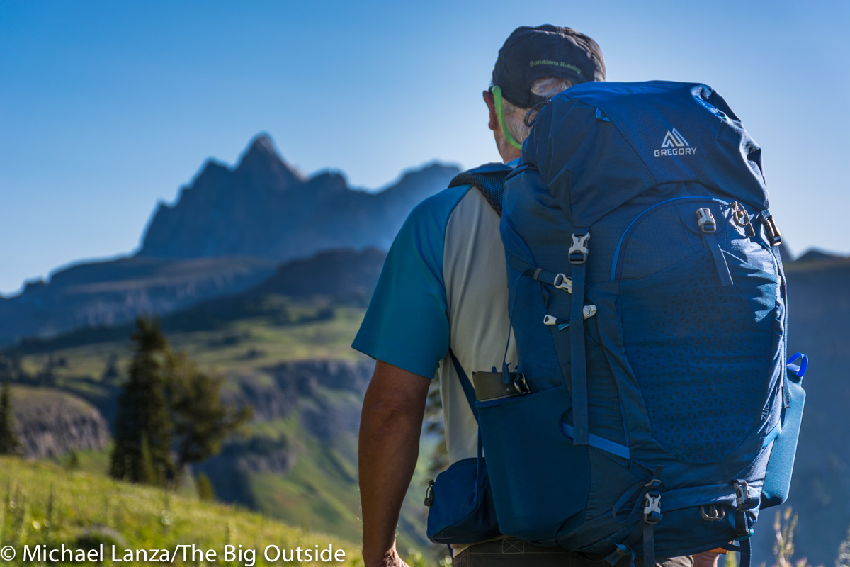 The Gregory Zulu 55 backpack on the Teton Crest Trail.