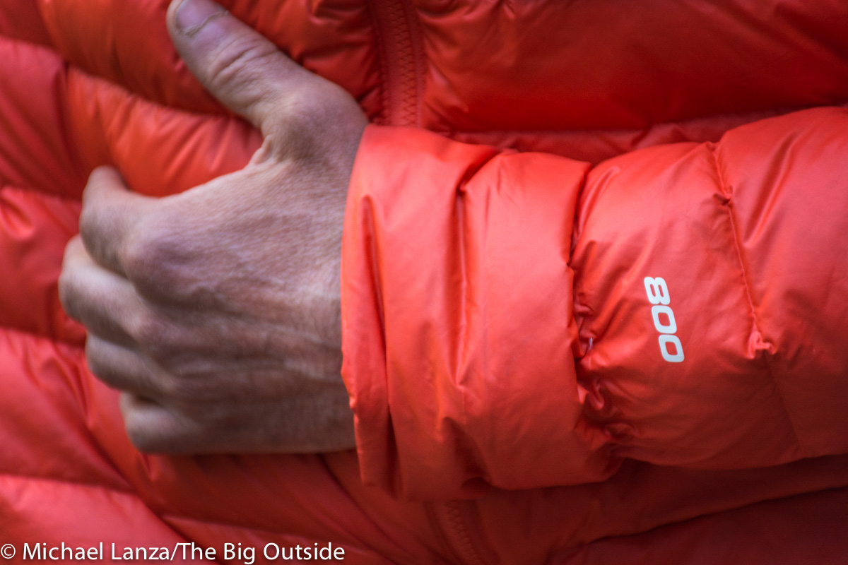The North Face Morph Jacket cuff.