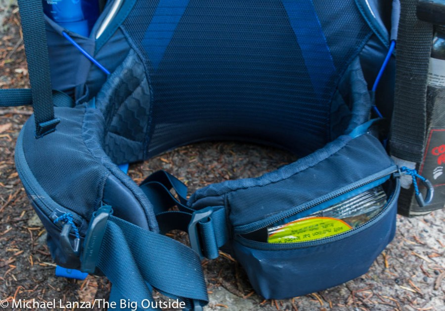 The North Face Banchee 50 hipbelt.
