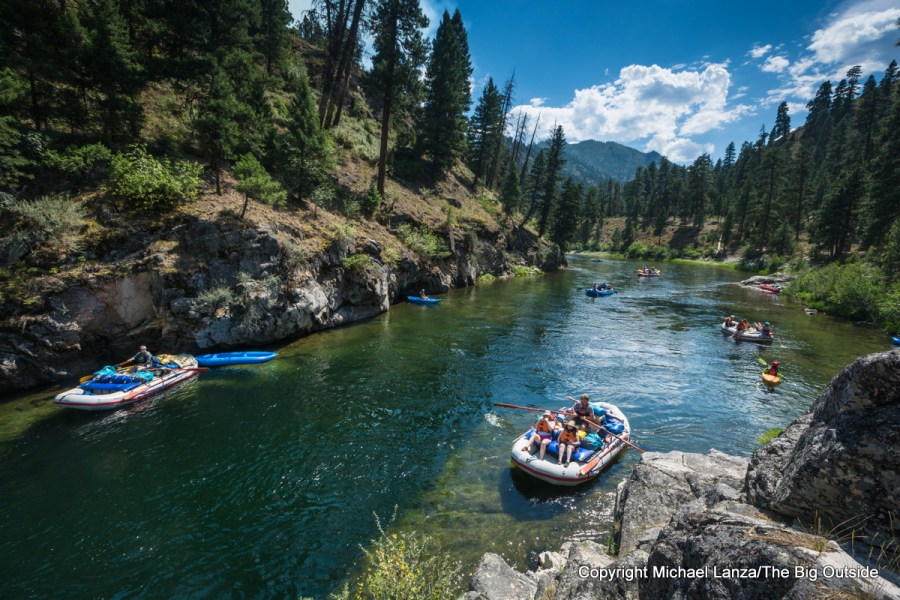 Boaters on Idaho's Middle Fork Salmon River.