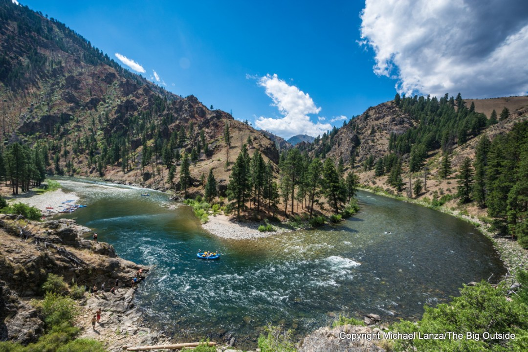 Rafting Idaho's Middle Fork Salmon River.