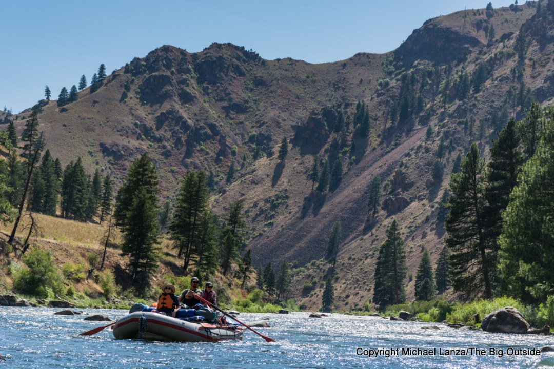 A raft on Idaho's Middle Fork Salmon River.
