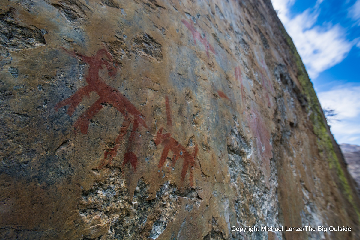 Pictographs in the canyon of Idaho's Middle Fork Salmon River.