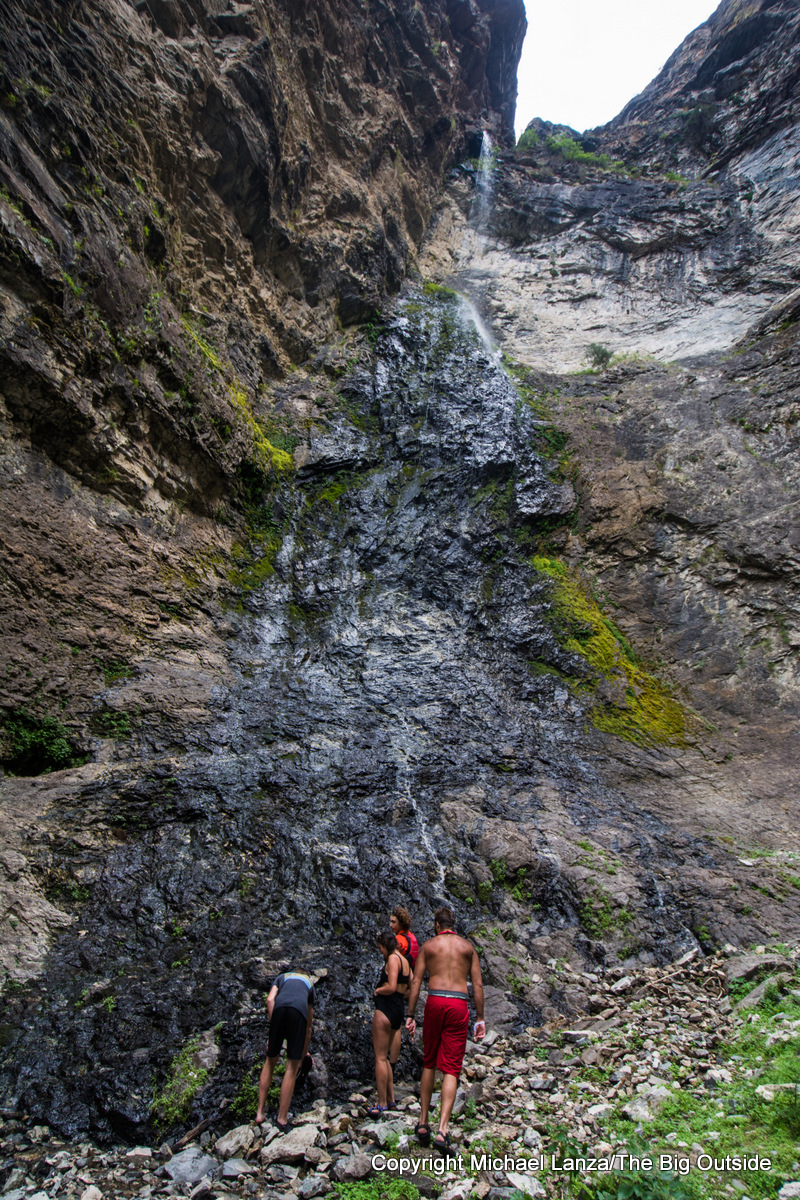 150-foot Nugget Falls, on a side hike along Idaho's Middle Fork Salmon River.