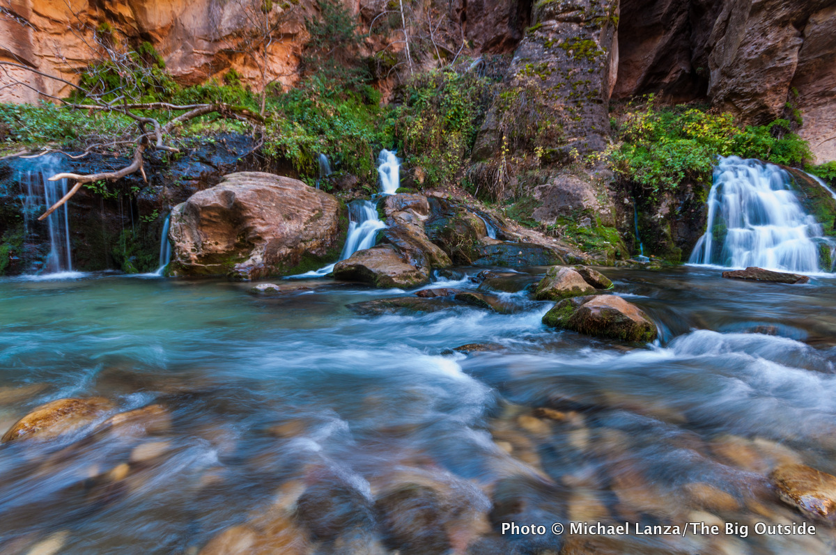 Big Spring in The Narrows, Zion National Park.