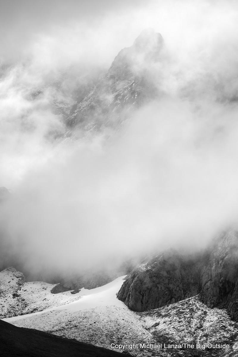 Fog surrounding the Peña Vieja, Picos de Europa Mountains, Spain.