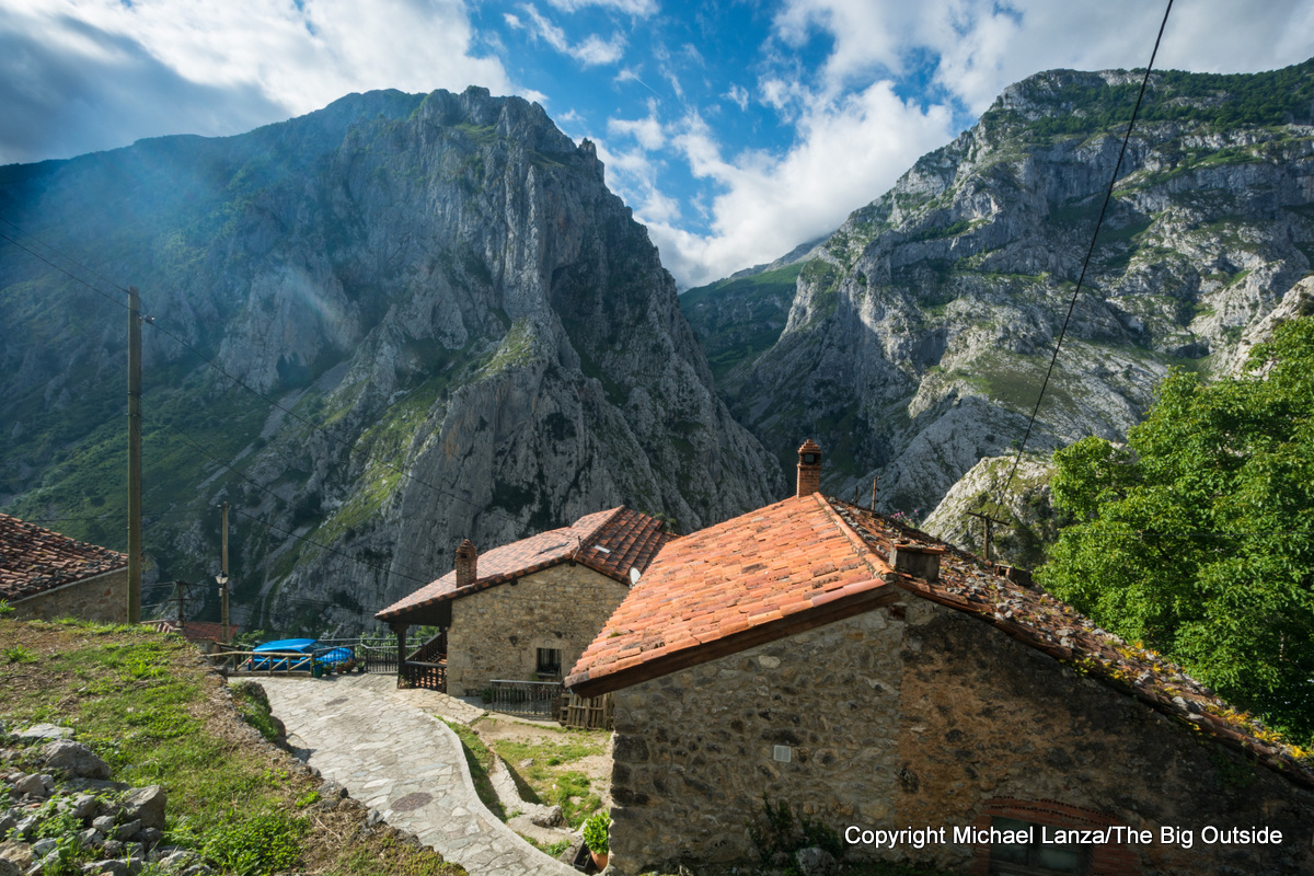 The village of Camarmeña, Spain, on the edge of Picos de Europa National Park.
