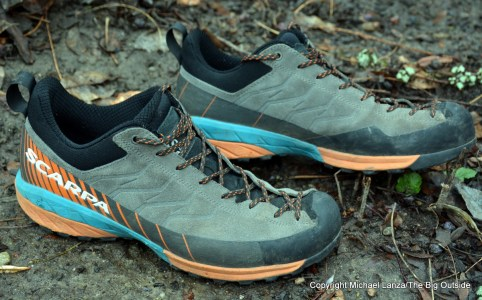 Scarpa Mescalito hiking shoes.