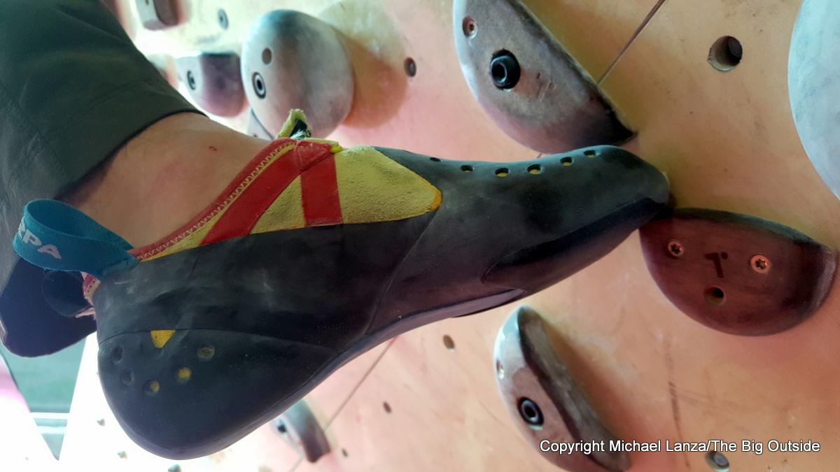 Scarpa Furia S climbing shoes.
