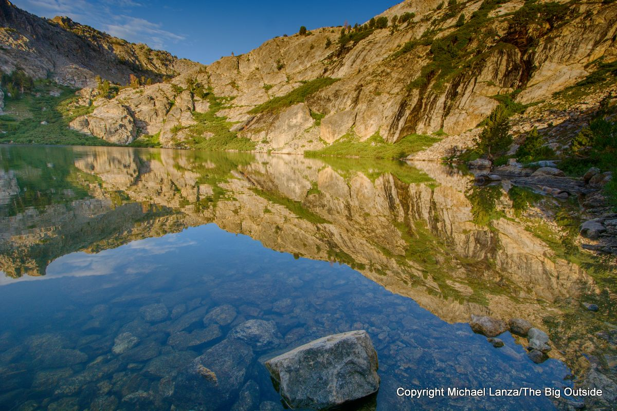 Morning at Overland Lake on the Ruby Crest Trail, Ruby Mountains, Nevada.