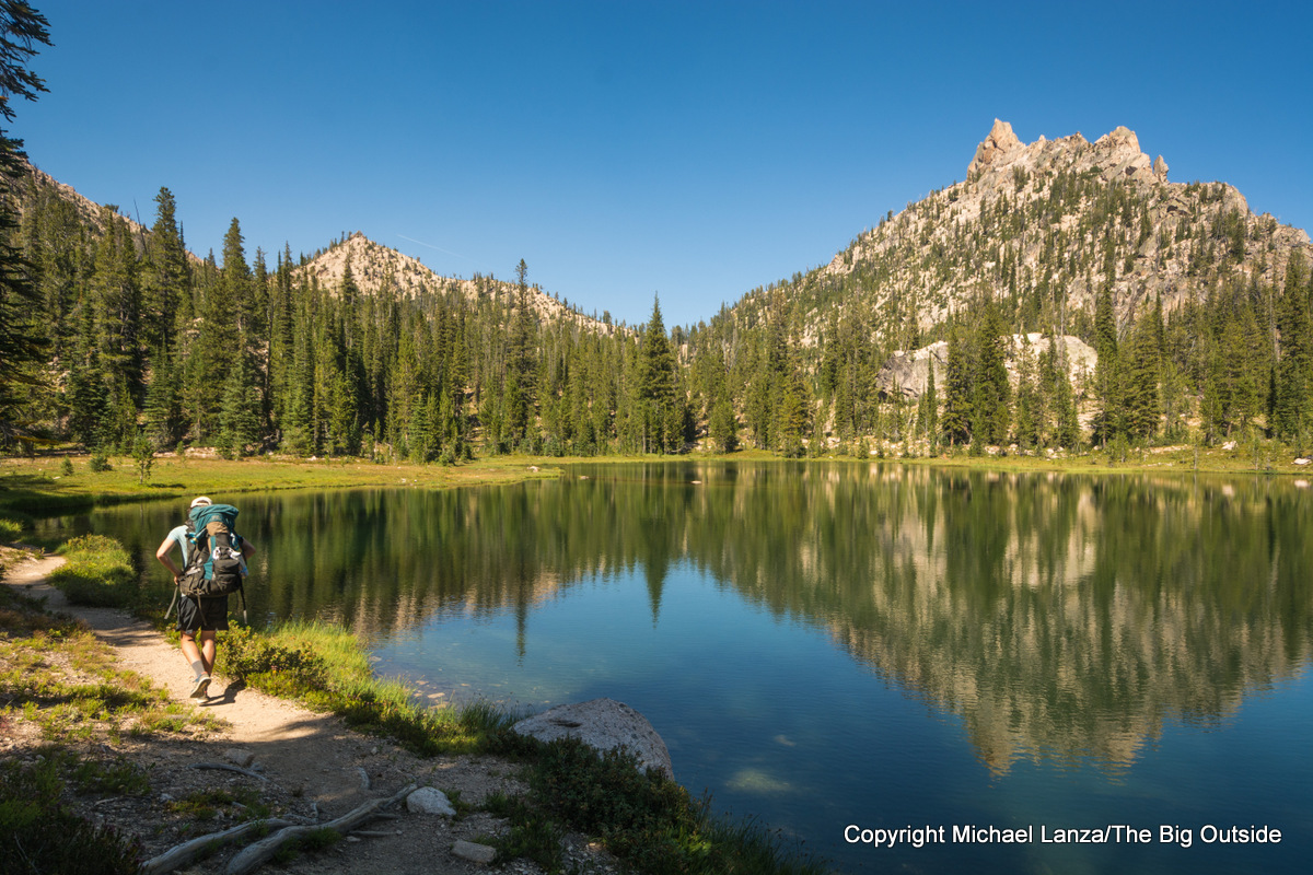 Backpacking to the Baron Lakes in Idaho's Sawtooth Mountains.
