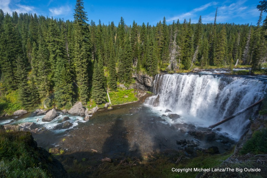 Iris Falls on the Bechler River, Yellowstone National Park.