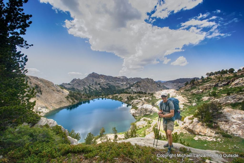 Michael Lanza of The Big Outside backpacking the Ruby Crest Trail, Ruby Mountains, Nevada.