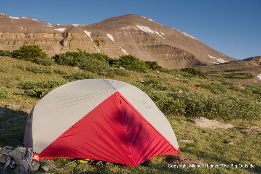 Testing the MSR Hubba Hubba NX 2-person tent in Utah's High Uintas Wilderness.