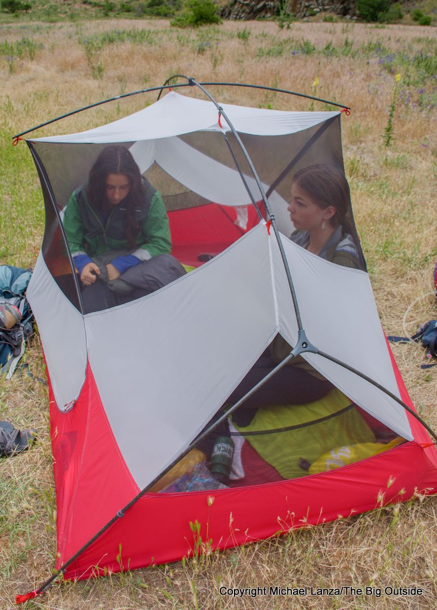The MSR Hubba Hubba NX 2-person tent.