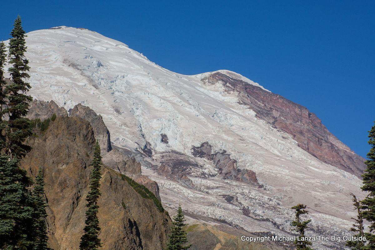 The Emmons Glacier on Mount Rainier.