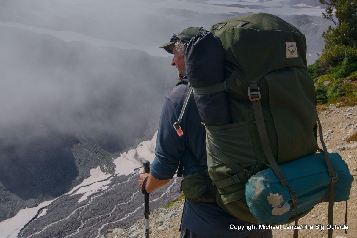 The Osprey Archeon 70 backpack on the Wonderland Trail around Mount Rainier.