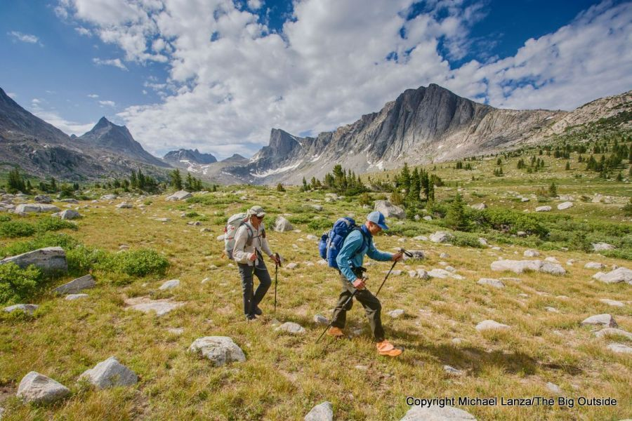 Backpackers Kristian Blaich and Joe Souvignier on the Wind River High Route.
