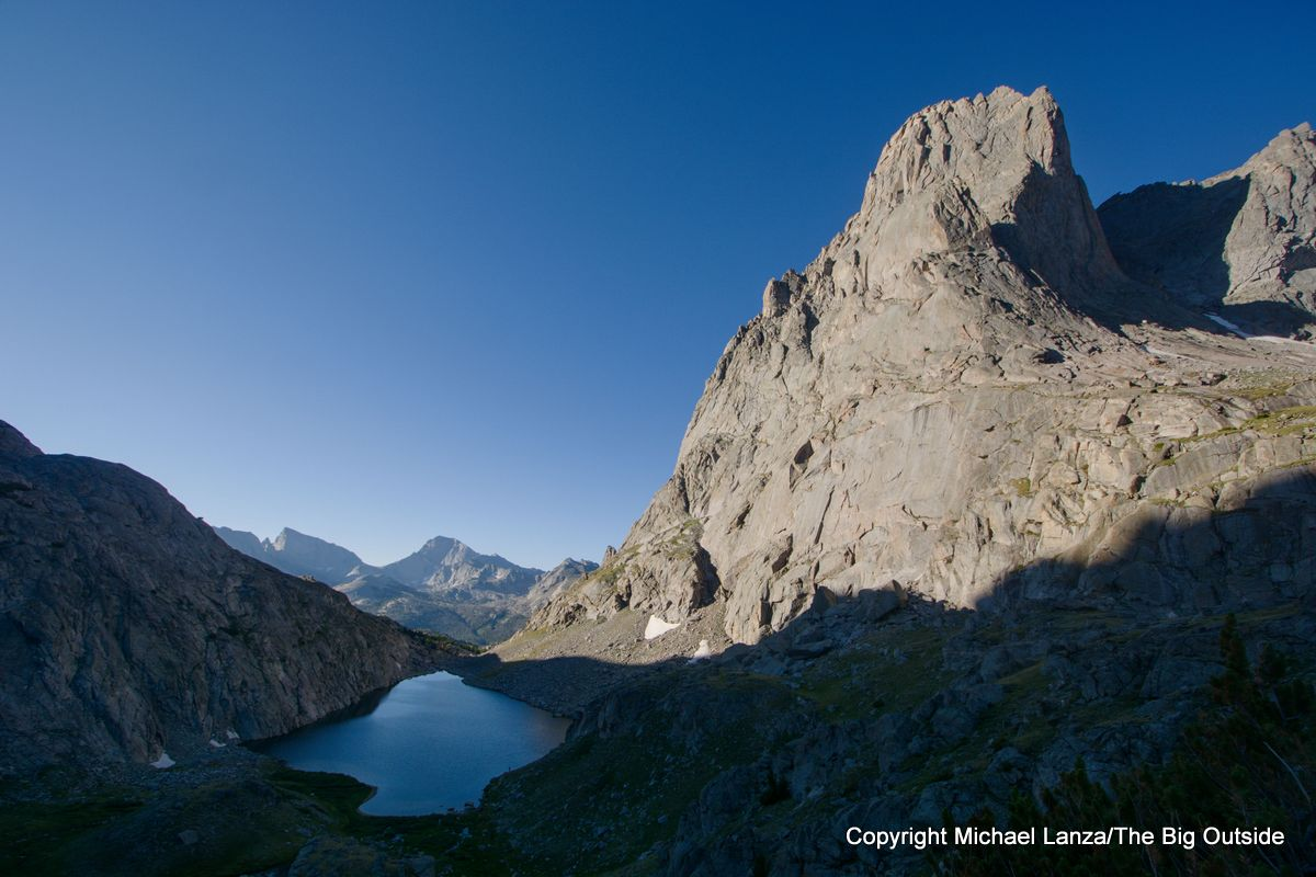 Arrowhead Lake, below Jackass Pass and the Cirque of the Towers in the Wind River Range.