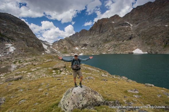 Michael Lanza of The Big Outside in the Alpine Lakes Valley on the Wind River High Route.