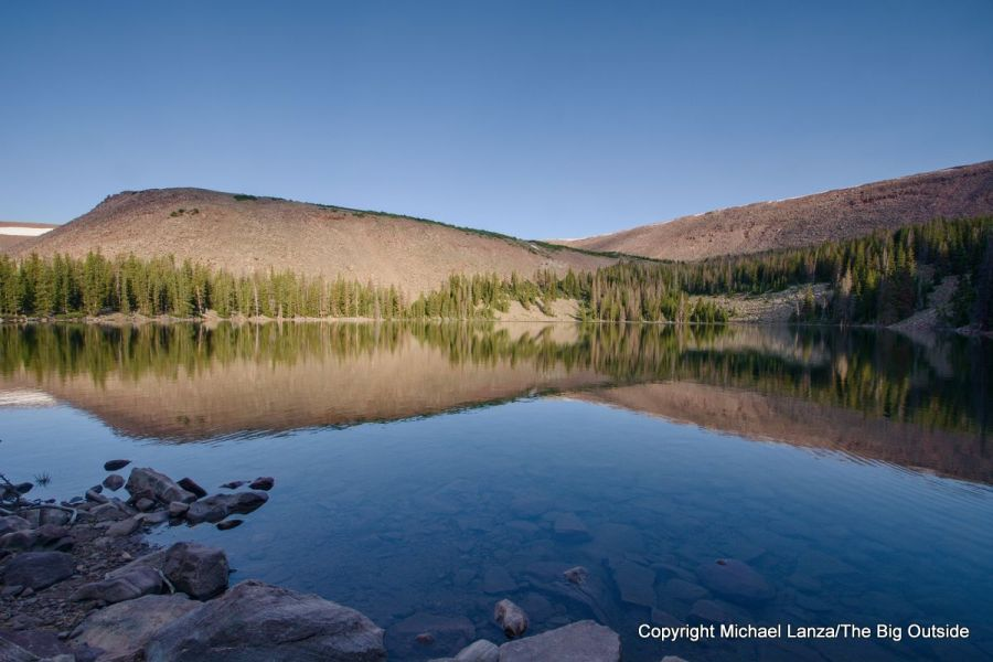 Morning at the Fourth Chain Lake in Utah's High Uintas Wilderness.